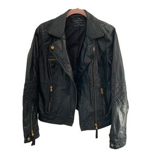 Zara genuine leather moto jacket